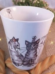 Mugg med katter, motiv nr 2