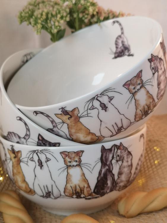 Skål med katter, motiv nr 1