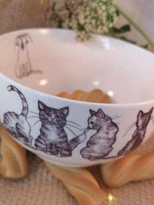 Skål med katter, motiv nr 2