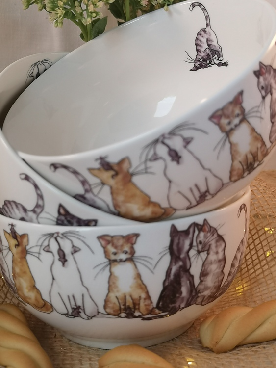 Skål med katter, motiv nr 3