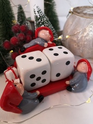 Tärningar till julklappsspelet