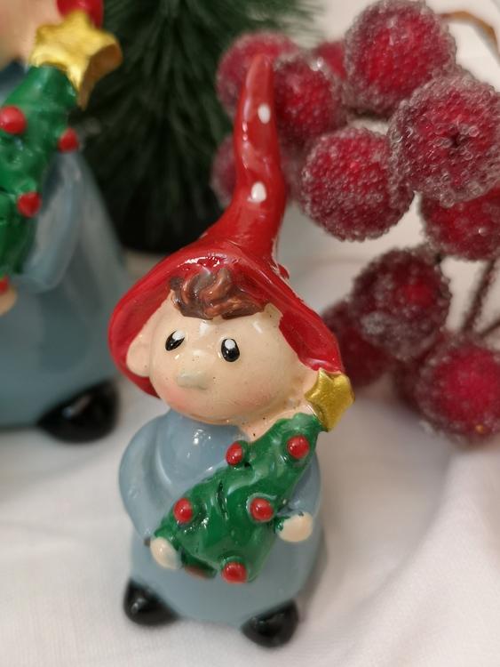 Tomtenisse med julgran, 3 storlekar