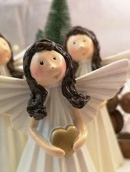 Ängel med hjärta i guld