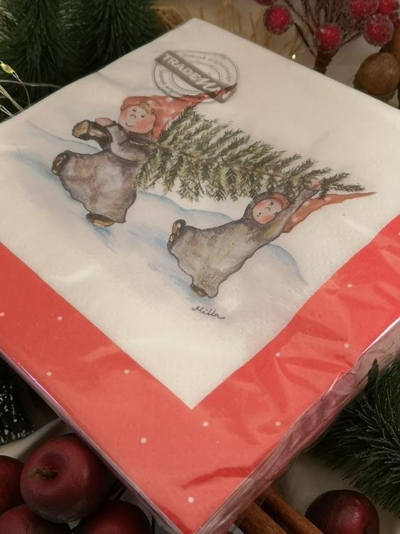 20-pack julservetter med nissar