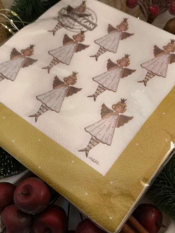 änglar med prickig klänning 20-pack servetter