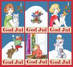 Julkort 6 olika motiv