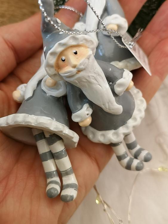 Jultomte grå, hängande