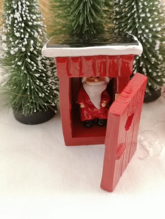jultomten på toaletten