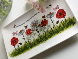 "Assiett ""Den blomstertid..."""