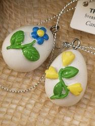 Ägg med blommor att hänga