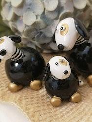 Hund i svart och guld
