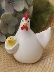 Höna med kyckling