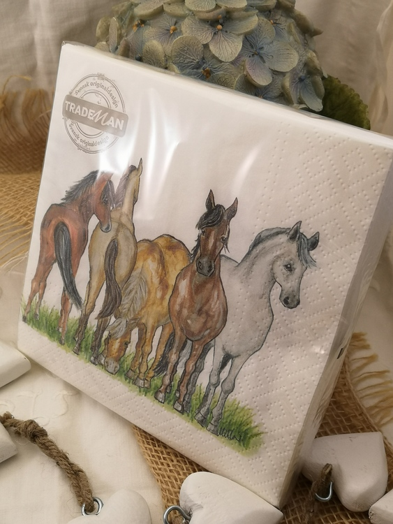 Servetter med hästar