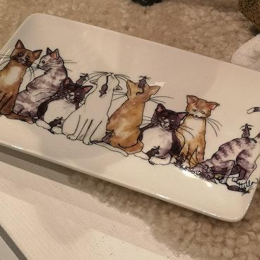 Assiett  katter motiv 1