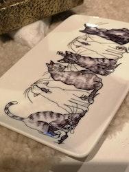 Assiett  katter motiv 2