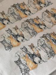 Tygkasse med katter