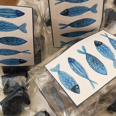 Kolapåse med fiskmotiv