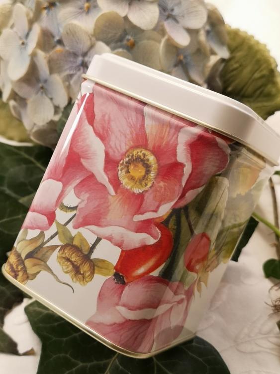 Plåtburk, rosor 100g