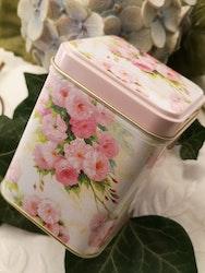 Plåtburk, rosa rosor 100g