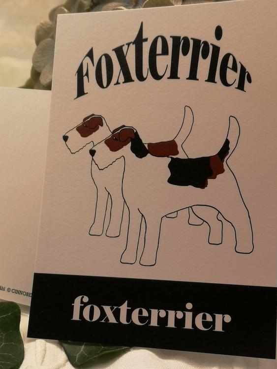 vykort, Fox terrier