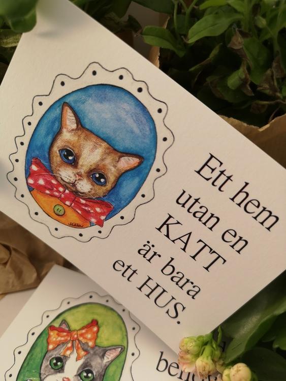 Vykort, Katter med citat