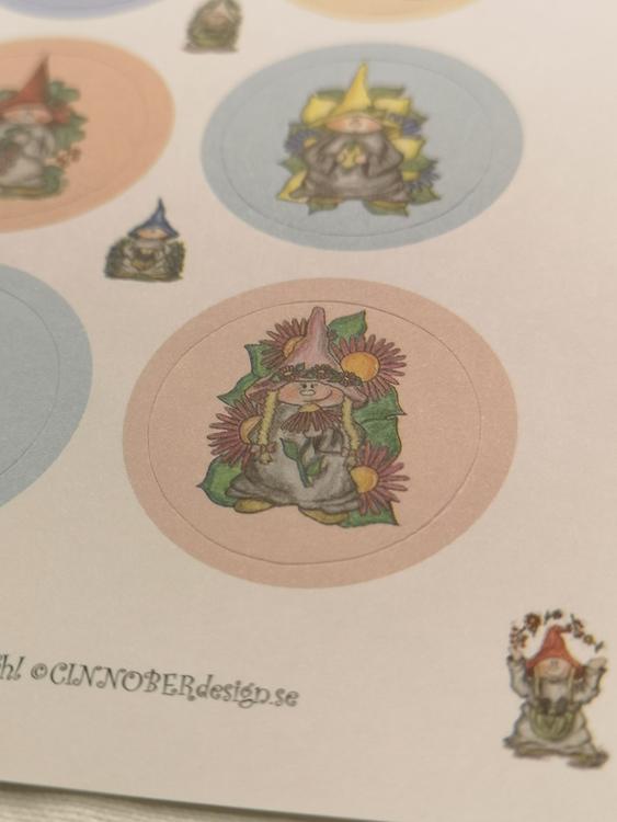 Stickers i rosa och blått