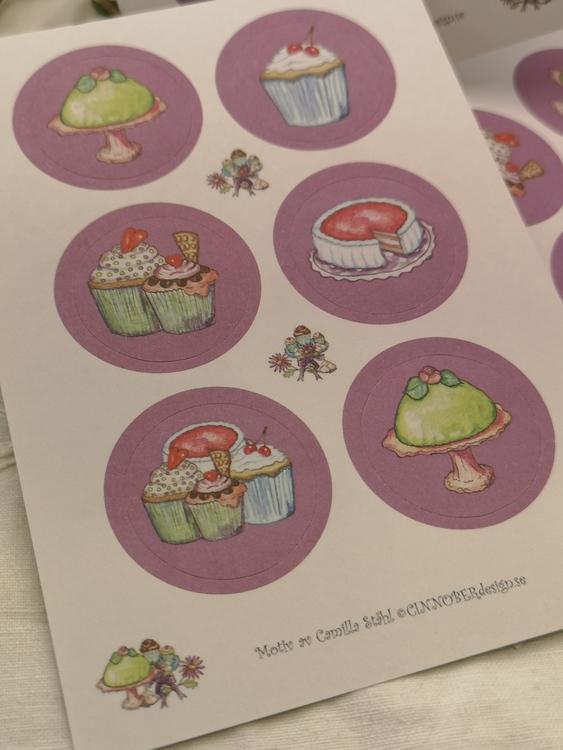 Stickers, bakverk