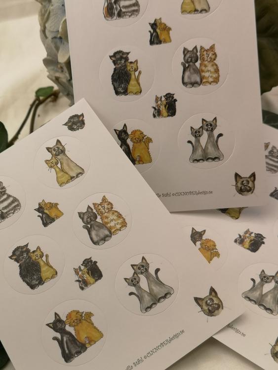 Stickers, katter