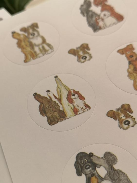 Stickers, hundar