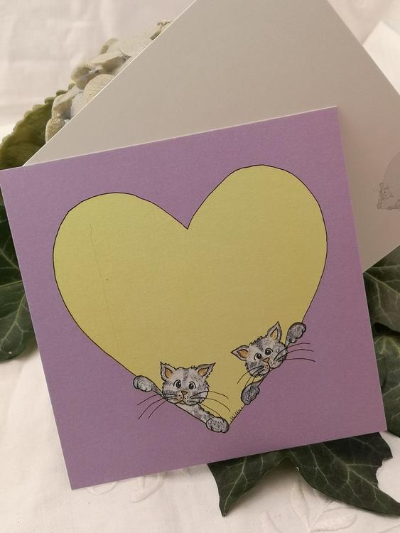Hjärtkort, katter