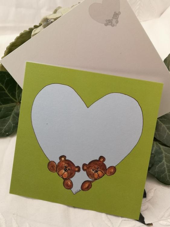 Hjärtkort, nallar