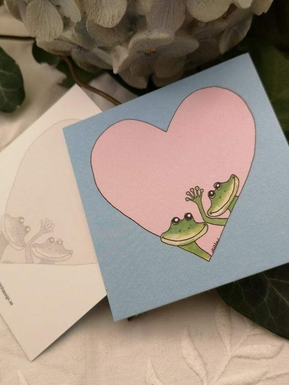Hjärtkort, grodor
