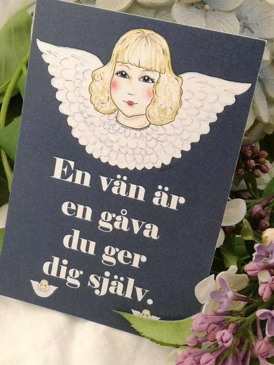 Citatkort med änglar