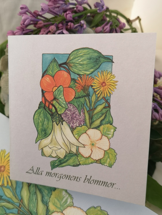 Trädgårdskort, blålila