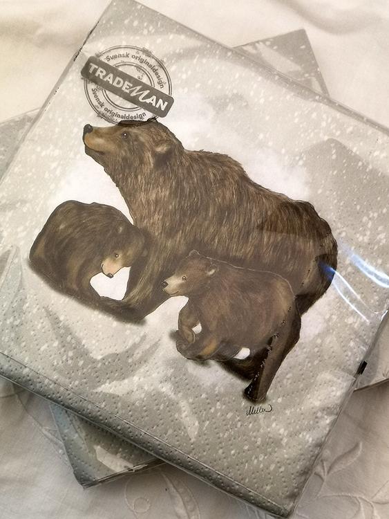 Servetter med björnar
