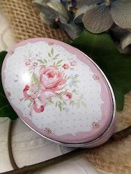 Oval burk med rosor
