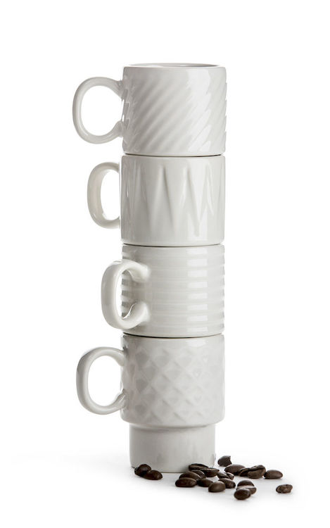 Espressomugg Sagaform Vit - 4 pack