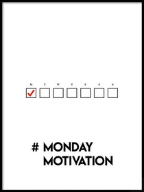 Poster #MondayMotivation