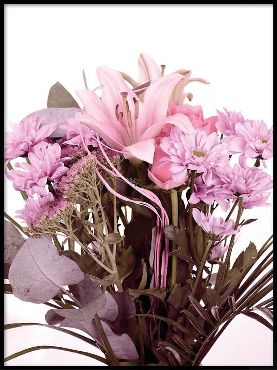 Poster Bukett med blommor