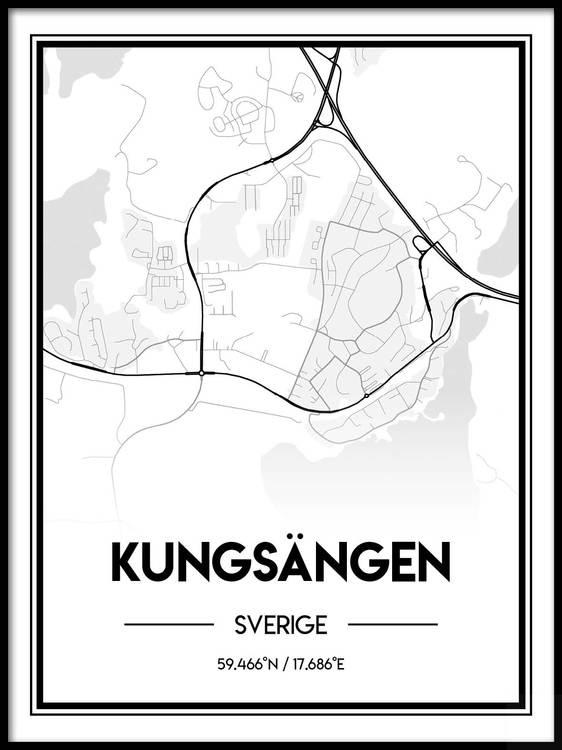 Poster Karta över Kungsängen