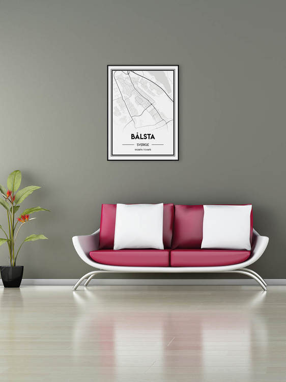 Poster Karta över Bålsta