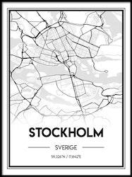 Poster Karta över Stockholm