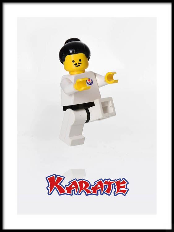 Poster Lego Karate