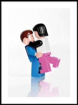 Poster Lego Kärlekspar