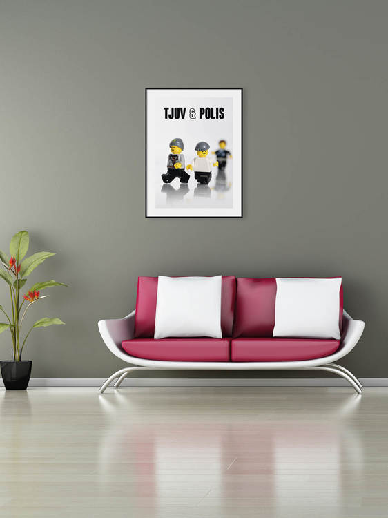 Poster Lego Tjuv & Polis