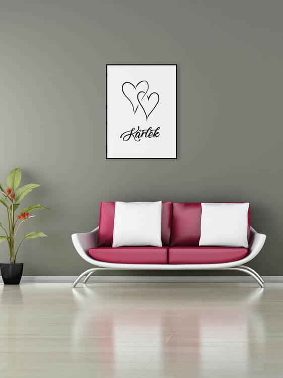 Poster Kärlek två hjärtan