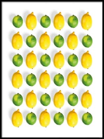 Poster Citron & Lime i mönster