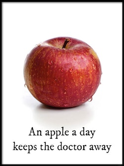 Poster An apple a day