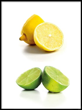 Poster Citron- & Limehalvor