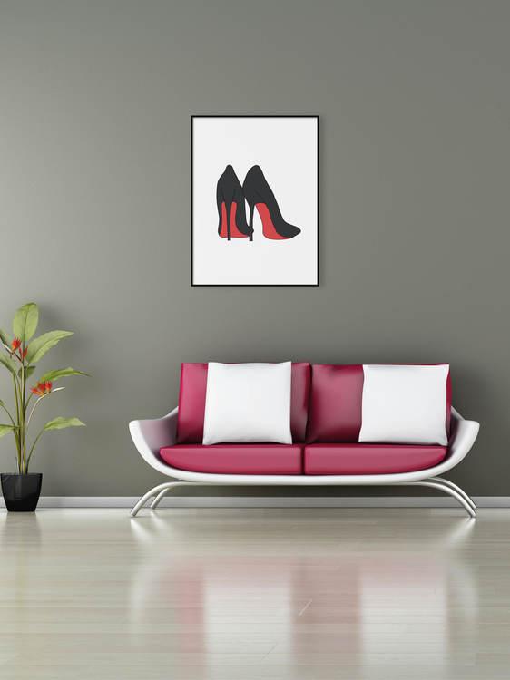 Poster Högklackade skor
